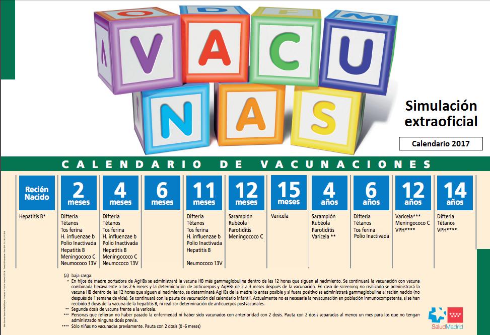 Calendario De Vacunas Infantil.Adelanto Del Calendario De Vacunacion Infantil 2017 Ampap